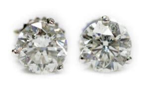 14kt 3 Prong Diamond Stud